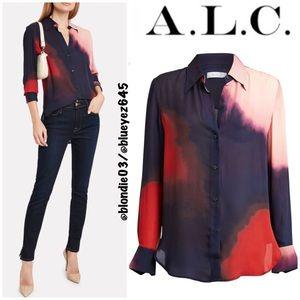 """A.L.C. """"Jayne"""" tie dye silk blouse 4"""